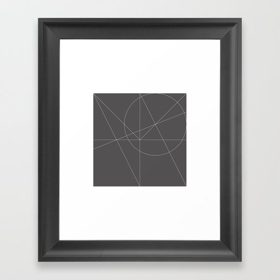 #150 Quadrature – Geometry Daily Framed Art Print