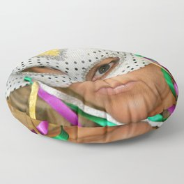 Woman with Mask Floor Pillow