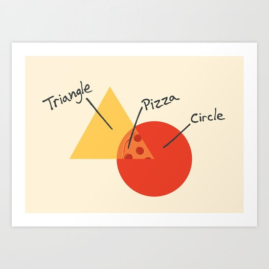A College Venn Diagram Art Print
