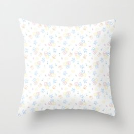 Baby Symbols Sketch - White Cloud Throw Pillow