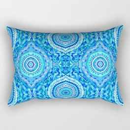 Blue Lemon Drops - Aqua, Royal Blue, & Teal Rectangular Pillow
