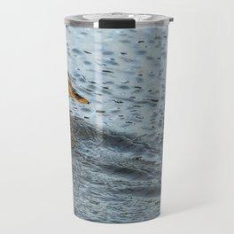 Mallard in the Rain Travel Mug