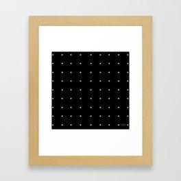 Black & Cream Polka Dots Framed Art Print