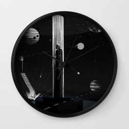 Surrounded by stars Wall Clock