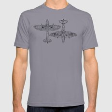Spitfire Mk. XIV (black) Mens Fitted Tee Slate LARGE