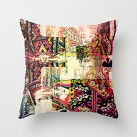 house of cards Throw Pillows featuring Cards by Jean-François Dupuis
