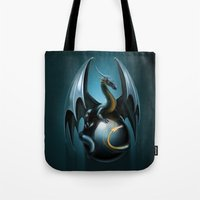dragon ball Tote Bags featuring dragon by Antracit