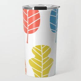 Autumn leaves collection isolated on white Travel Mug