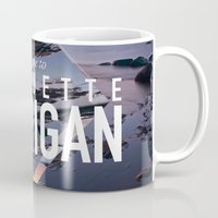 postcard Mugs featuring Marquette Postcard by ztwede