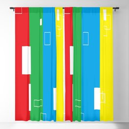 Simple Color Primary Colors Blackout Curtain