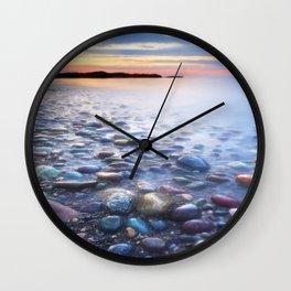 Blue Pearls - Massachusetts Wall Clock