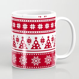 Christmas Holiday Nordic Pattern Cozy Coffee Mug