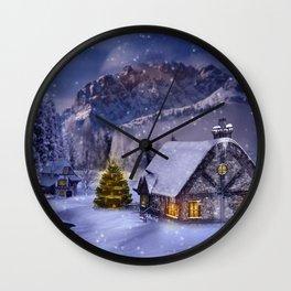 Winterlandschaft Wall Clock