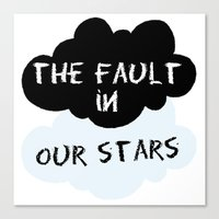 the fault in our stars Canvas Prints featuring The Fault In Our Stars by swiftstore