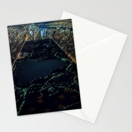 Central Park - New York City Nighttime Landscape Painting by Jeanpaul Ferro Stationery Cards