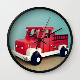 Toy Fire Truck Wall Clock