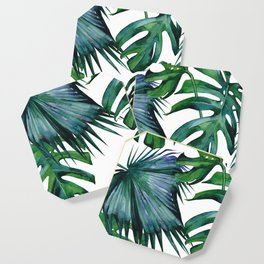 Tropical Palm Leaves Classic Coaster