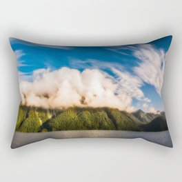 Amazing cloud formation at Lake Manapouri in New Zealand Rectangular Pillow
