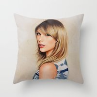 1989 Throw Pillows featuring Taytay 1989 by The Art Of Dreams