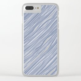 The silver sea - Simple light blue pattern Clear iPhone Case