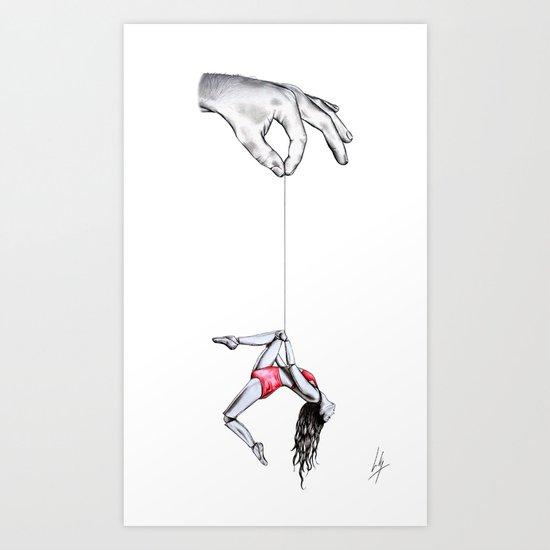 'By a thread' Art Print