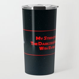 My Strength Increases With Every Sip! Muwahaha! | Fan Art | Darkside Travel Mug