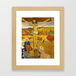 The Yellow Christ by Paul Gauguin Framed Art Print