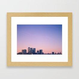 Summer Skyline Framed Art Print