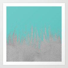 Concrete Fringe Turquoise Art Print