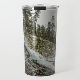 Bridal Veil Falls in Jasper National Park, Alberta Travel Mug