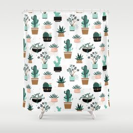Cactuses and succulents Shower Curtain
