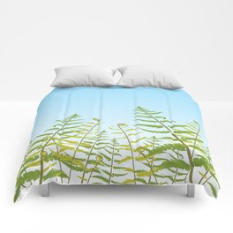 Fiddleheads and Fern Fronds Comforters