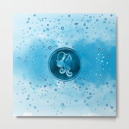 Aquarius Zodiac Sign Air Element Metal Print
