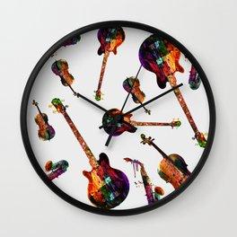 music abstract Wall Clock