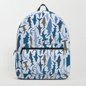 Swimming with Sharks in Blue and Grey by figandfossil