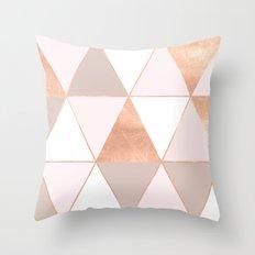 GEO TIKKI - ROSEGOLD PASTEL Throw Pillow