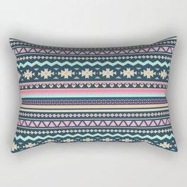 Colorful Aztec Tribal Pattern Rectangular Pillow