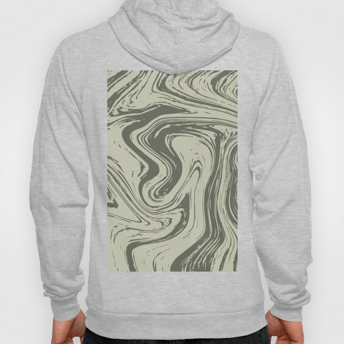 Grey Striped Marble On Grey Hoody