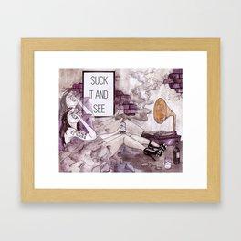 Dandelion and Burdock Framed Art Print
