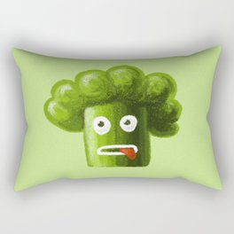 Stressed Out Broccoli Rectangular Pillow