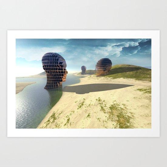 mesh Island  Art Print