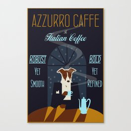 Azzurro Cafe Canvas Print