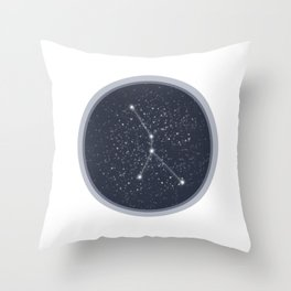 Cancer Constellation Throw Pillow