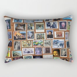 Wooden Postcard Wall Rectangular Pillow