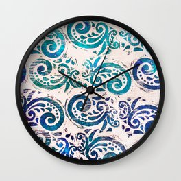 paisley aquatics Wall Clock