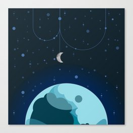 Moon and Planet Canvas Print