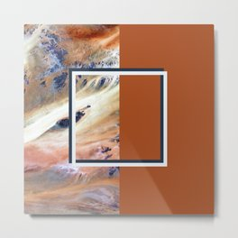Split Perspective - Abstract Geometric Design Metal Print