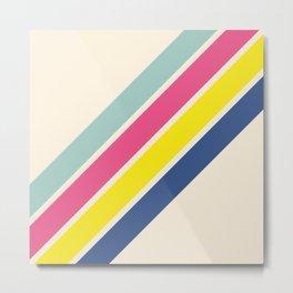 4 Retro Stripes #1 Metal Print