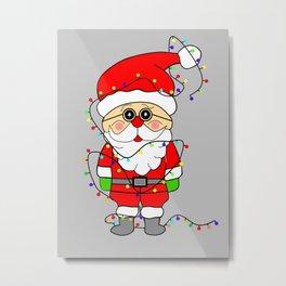 Silly Santa Metal Print