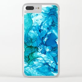 Into the Blue I Clear iPhone Case